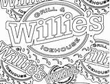 Coloring Willie Logos Books Grill Ice sketch template