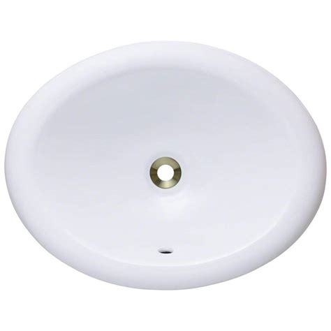 polaris sinks overmount porcelain bathroom sink in white p7191o w the home depot