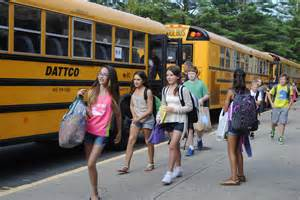 First Day of School Middle Bus