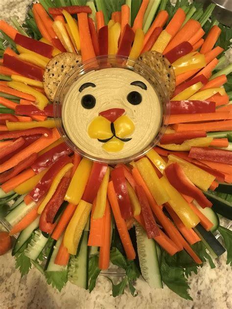 simba inspired veggies tray  lion king baby shower baby showers  gender reveal