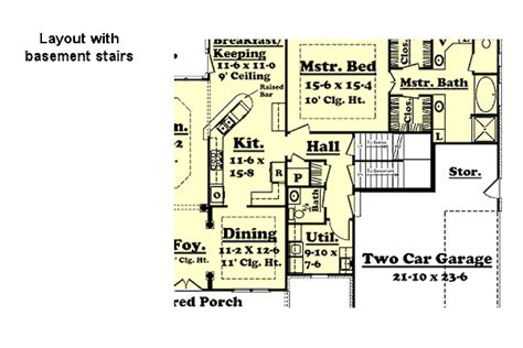 Colonial Style House Plan 4 Beds 3 50 Baths 2500 Sq/Ft