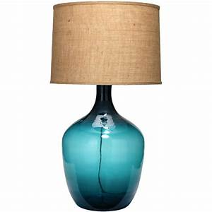Table lamps navy blue mercury glass table lamp large for Glass jar floor lamp