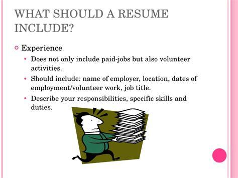 resume writing high school