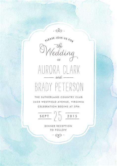 watercolor wash invitations  blue greenvelopecom