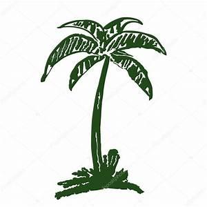Hand drawn coconut tree — Stock Vector © missbobbit #23665689