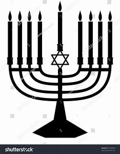 Illustrated Silhouette Of A Jewish Menorah Stock Photo ...