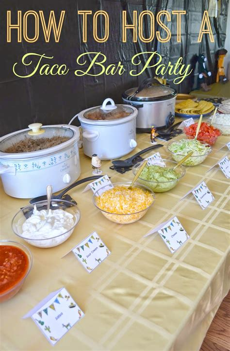 How To Make A Restaurant Look On A Resume by Diy Taco Bar Table Tents Free Printables Building Our Story