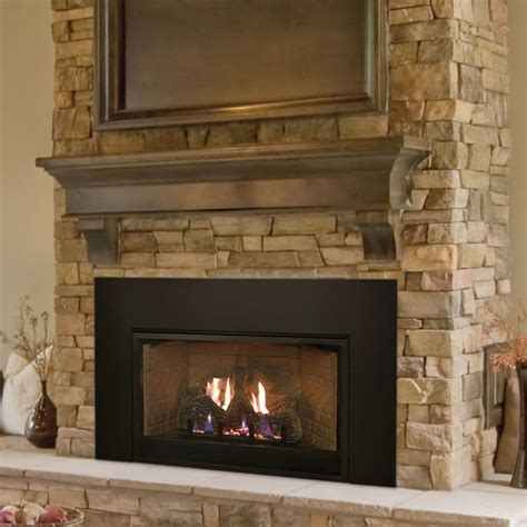 empire medium vent  fireplace insert fines gas