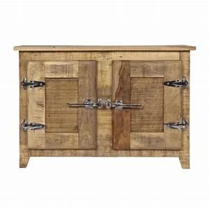 meuble dessous lavabo frigo bois naturel achat vente With amazing meuble lavabo bois massif 1 meuble sous lavabo