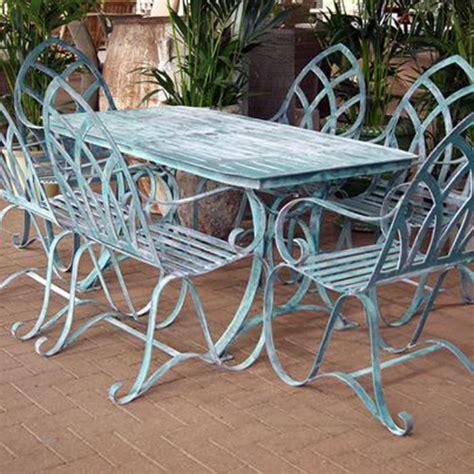 buy verdigris garden dining set for 6 burford