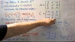 Inverse Matrix Berechnen Mit Rechenweg : inverse matrix berechnung mit hilfe der adjunkte youtube ~ Themetempest.com Abrechnung