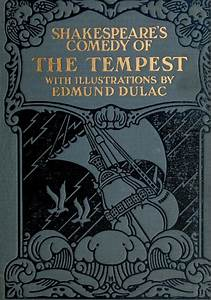 """Book cover by Edmund Dulac for Shakespeare's """"The Tempest ..."""