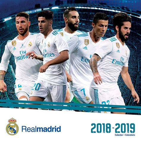 real madrid month wall calendar