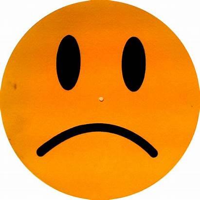 Sad Face Clip Orange Clipart Smiley Unhappy