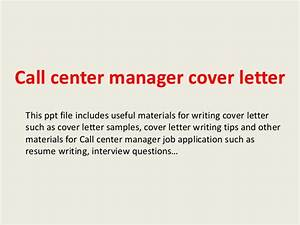 cover letter for call center manager position - 28 images ...