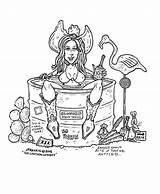 Tub Drawing Coloring Rankin Jp Cartoon Cowboy Sketch Drawings Template Paintingvalley sketch template