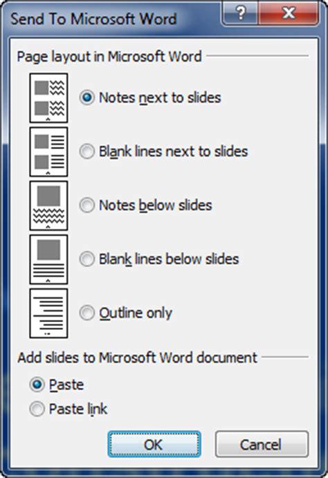 practices  powerpoint handouts  send  word