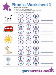 phonics worksheets guruparents With letter sounds phonics for beginners