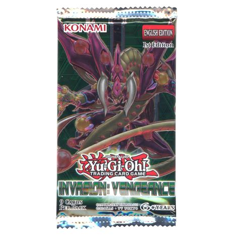 yu gi  cards invasion vengeance booster pack