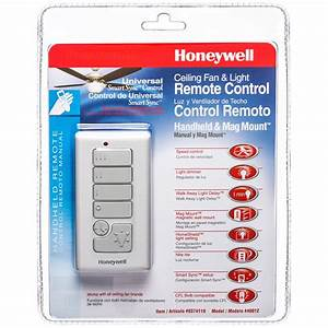 Honeywell Handheld Ceiling Fan Remote With Magnetic Wall