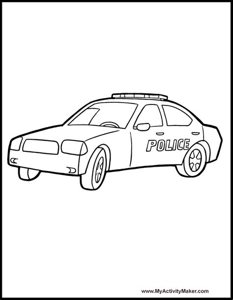 malvorlagen fur kinder ausmalbilder polizeiauto