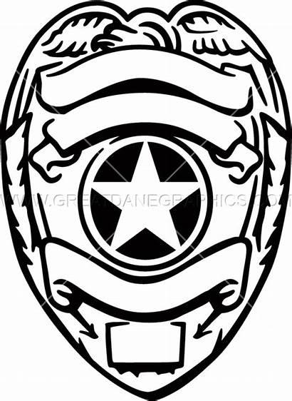 Badge Police Svg Officer Coloring Clipart Transparent