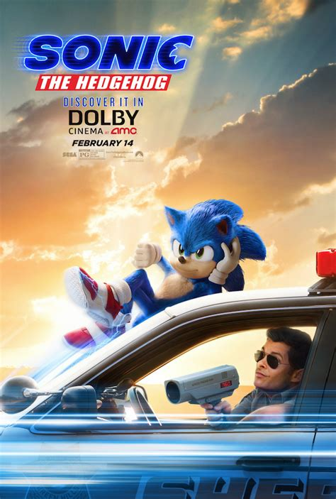 sonic  hedgehog  poster  caught speeding