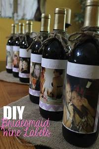 corin bakes diy wine labels will you be my bridesmaid With custom wine labels diy