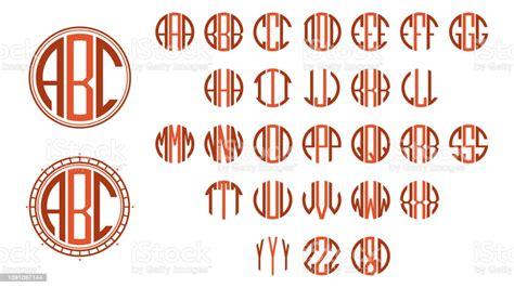 monogram circle letters stock illustration  image  istock