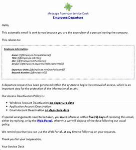 automated access management solution reference document With new employee email template