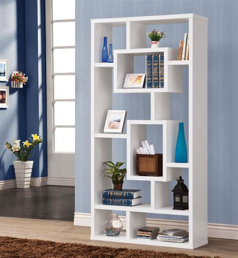White Bookcase by Coaster 800157 White Bookcase