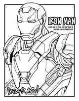 Iron Mark Marvel Captain America 46 Coloring Colorear Vengadores Infinity War Spider Libro Colouring Civil Dibujos Draw Too Guy Ecologicos sketch template