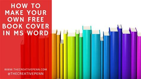 How To Make Your Own Free Book Cover In Ms Word The