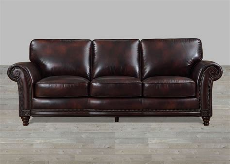 top grain leather sofa 100 grain leather sofa with nailheads 6286