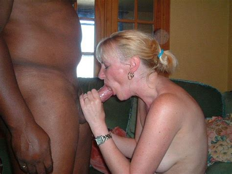Middle Aged Blonde Wife Sucking Hard A Huge Cock Of At