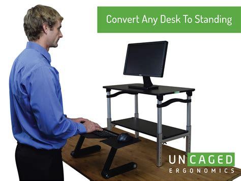 portable standing desk amazon amazon com uncaged ergonomics lift standing desk