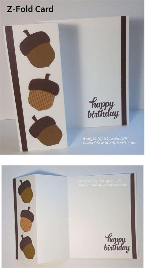 acorn card   simple  fold cards happy birthday