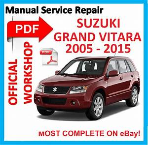 Official Workshop Manual Service Repair For Suzuki Grand