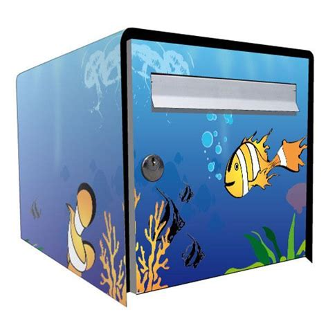stickers bo 238 te aux lettres d 233 co aquarium