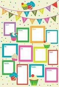 karen hanke39s portfolio happy birthday chart giochi With birthday chart template for classroom