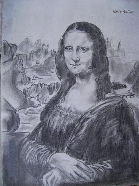 charcoal sketch  mona lisa desipainterscom
