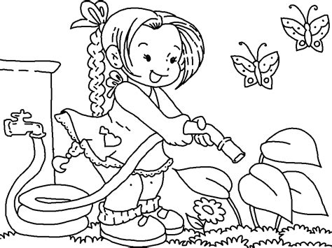 gardening coloring pages  coloring pages  kids
