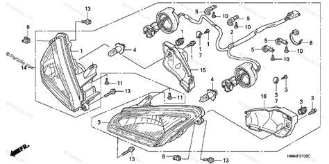 honda atv 2005 oem parts diagram for headlight partzilla