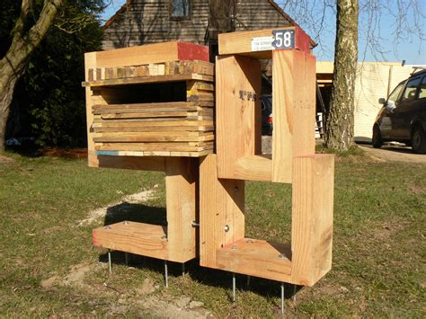 wooden mailbox recyclart