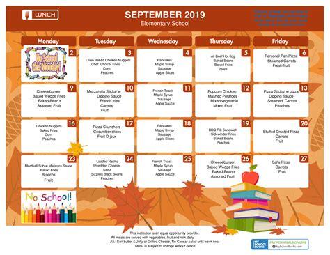 september lunch calendar peabody public schools
