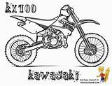 Coloring Pages Dirt Bike Motocross Bikes Printable Sheets Printables Kawasaki Rider Motorbike Motorcross Kx100 Competition Bicycle Yamaha Bmx Yescoloring Rough sketch template