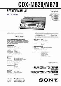 Sony Cdx-m670 Pdf Manuals For Download