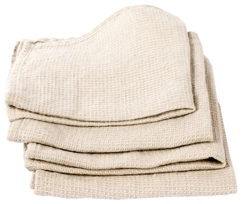 of 4 aloe green linen waffle wash cloths washed farmhouse bath towels by linenme