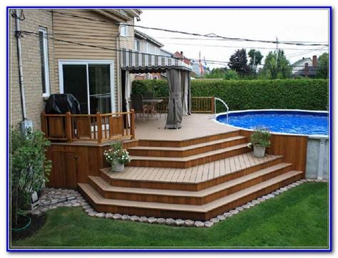 free pictures of above ground pool decks above ground pool deck plans pictures decks home