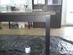 peindre une table salle a manger 10 messages With peindre table en bois